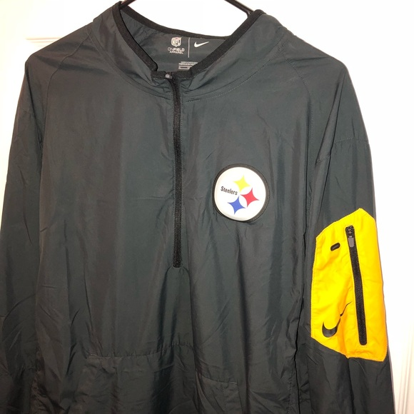 20a488d90 Pittsburgh Steelers 1 4 Zip Nike Pullover. M 5b9a00853c984428692365b8